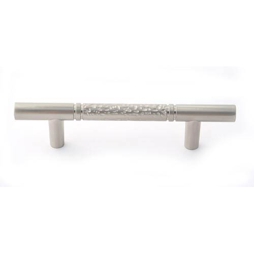 Eclectic Satin Nickel 3-Inch Pitted Bar Pull