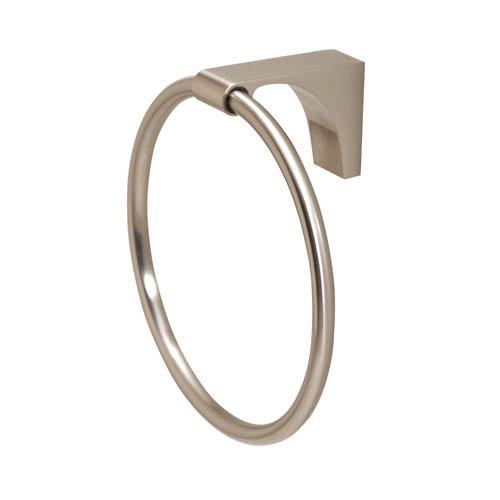 Luna Satin Nickel Towel Ring