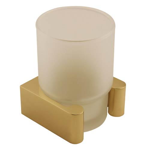 Luna Unlacquered Brass Counter Top Tumbler Holder with Glassware