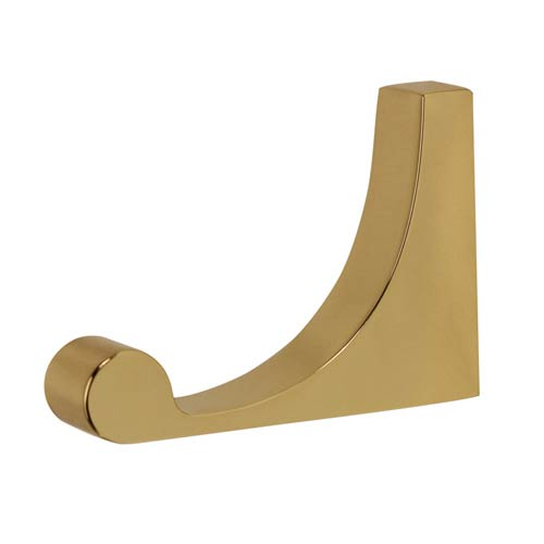 Luna Polished Brass Robe Hook