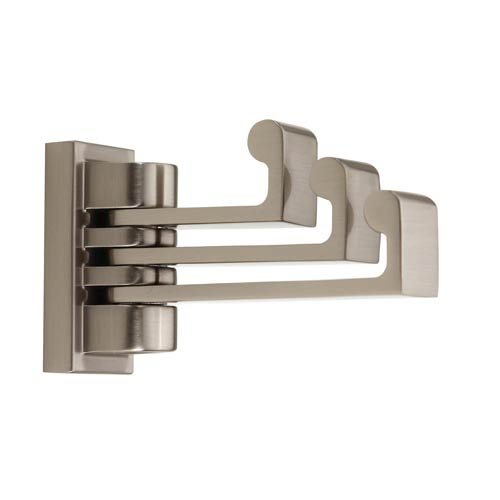 Luna Satin Nickel Swivel Robe Hook