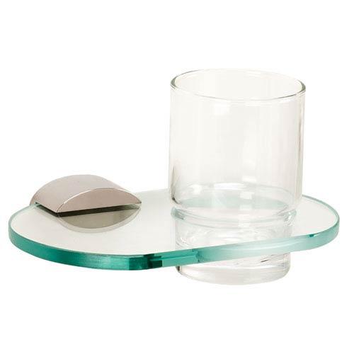 Alno, Inc. Contemporary III Polished Nickel Tumbler Holder w/Glass