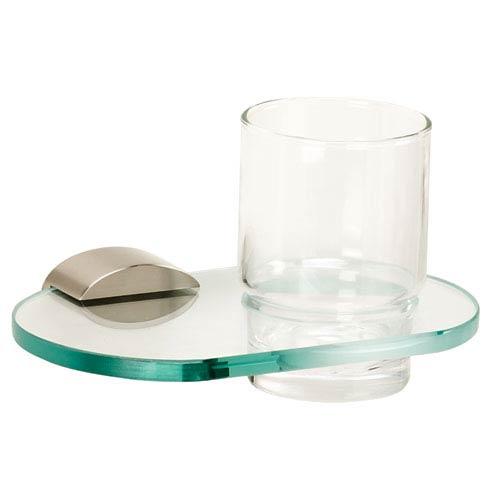 Contemporary III Satin Nickel Tumbler Holder w/Glass