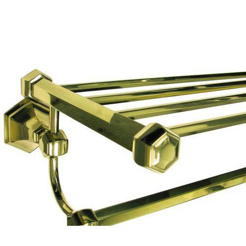 Nicole Polished Brass 24-Inch Towel Rack