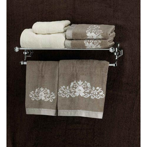 Nicole Polished Chrome 24-Inch Towel Rack