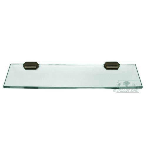 Alno, Inc. Nicole Barcelona 18-Inch Glass Shelf w/Brackets