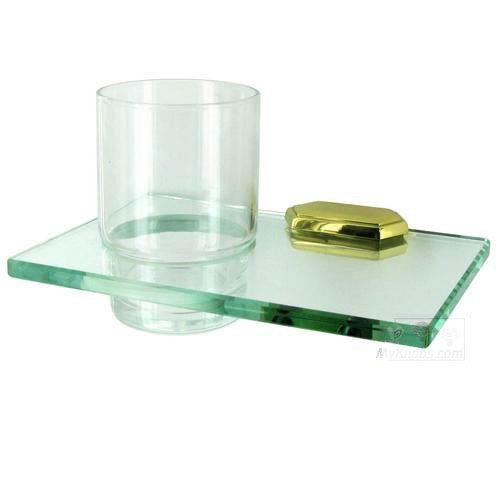 Alno, Inc. Nicole Polished Brass Glass Tumbler w/Holder