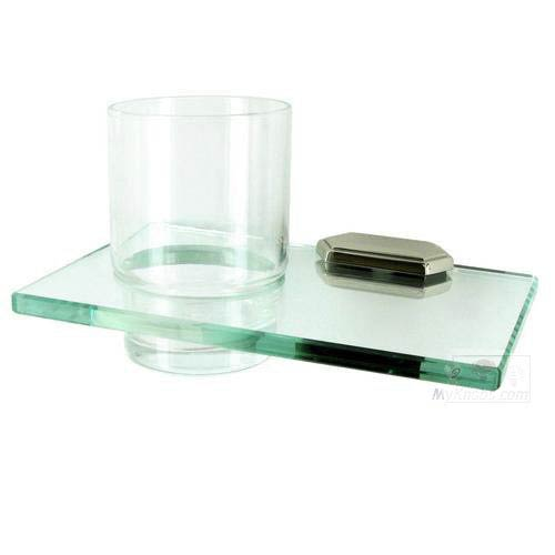 Alno, Inc. Nicole Polished Nickel Glass Tumbler w/Holder