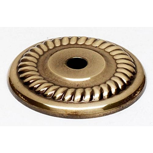 Polished Antique 1 1/4-Inch Backplate