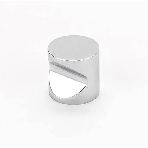 Contemporary Polished Chrome 1-Inch Knob