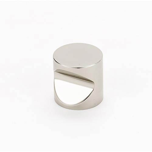 Contemporary Polished Nickel 1-Inch Knob