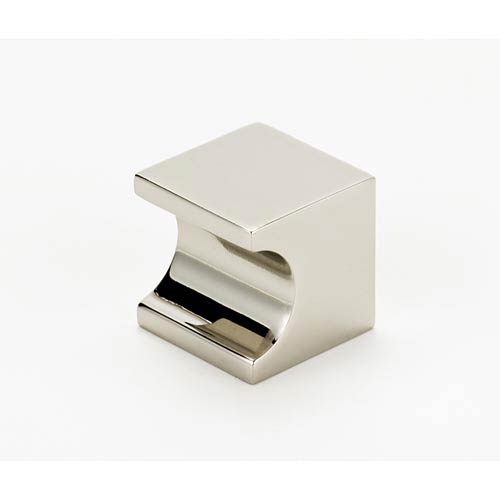 Contemporary II Polished Nickel 25.4 mm Square Knob