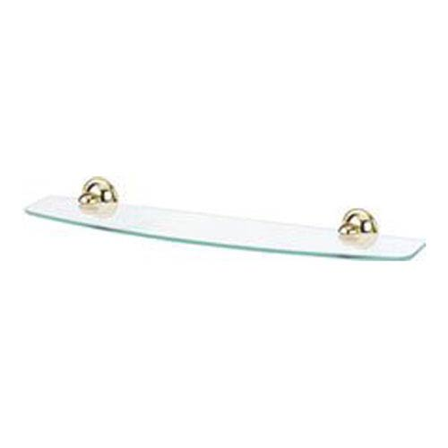 Yale Polished Brass 24-Inch Glass Shelf w/Brackets