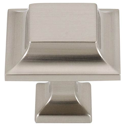 Satin Nickel 1 1/4-Inch Square Knob