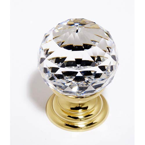 Alno, Inc. Crystal Polished Brass 30 mm Spherical Knob