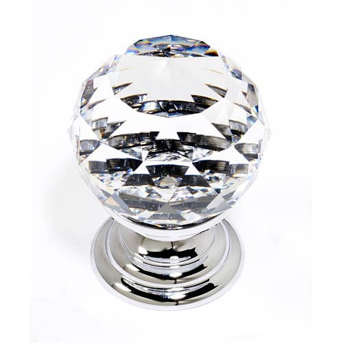 Crystal Polished Chrome 30 mm Spherical Knob