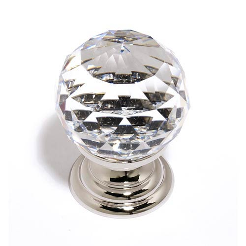 Crystal Polished Nickel 30 mm Spherical Knob
