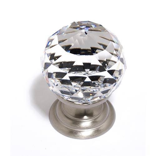 Crystal Satin Nickel 30 mm Spherical Knob