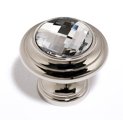 Crystal Polished Nickel 20 mm Round Knob