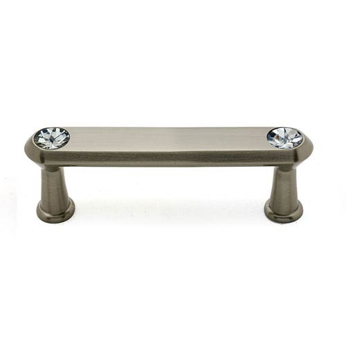 Alno, Inc. Satin Nickel 3-Inch Crystal Pull