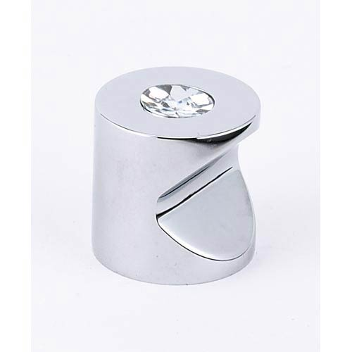 Contemporary Polished Chrome 1-Inch Crystal Knob