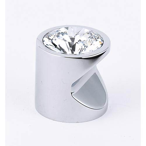 Contemporary Polished Chrome 1-Inch Large Crystal Knob