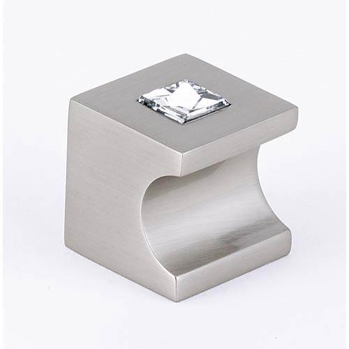 Contemporary II Satin Nickel 1-Inch Crystal Knob