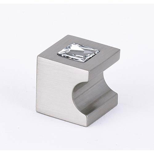 Contemporary II Satin Nickel 3/4-Inch Crystal Knob