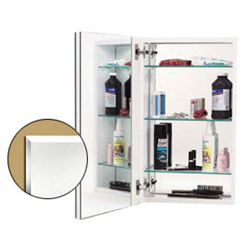 White Mirror Cabinet w/Beveled Edge Door