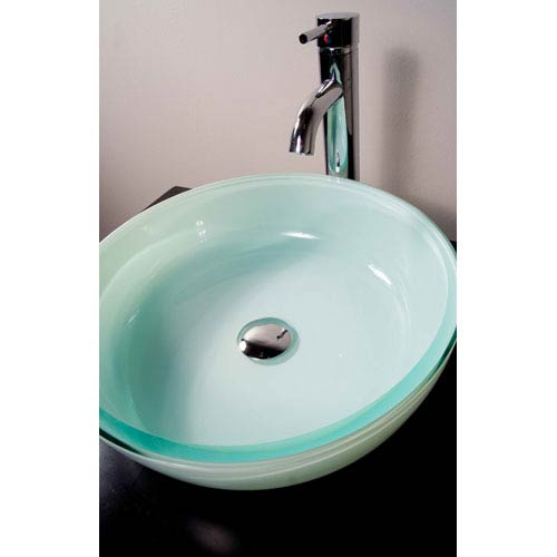 GS-109 Round Glass Vessel Sink