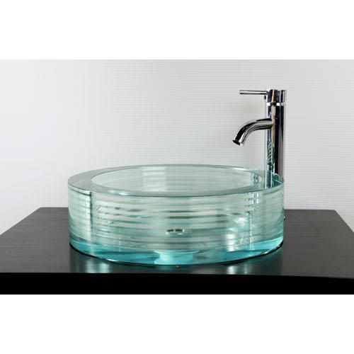 GS-112 Round Glass Vessel Sink