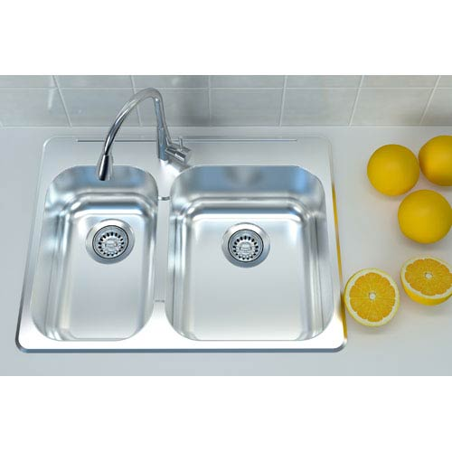 Cantrio Koncepts Stainless Steel 29 x 20 Overmount Sink