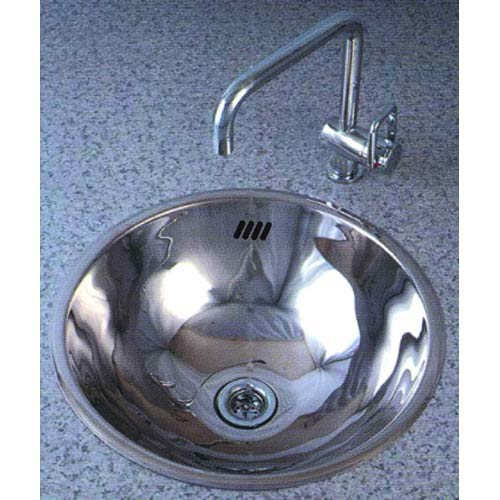 Cantrio Koncepts MS 002 Round Stainless Steel Vessel Sink