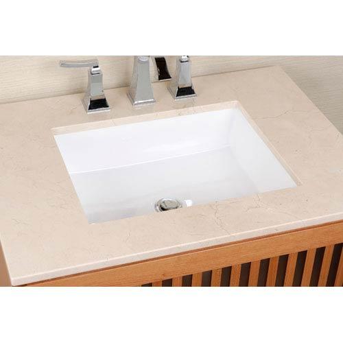 Vitreous China Undermount Rectangle Sink