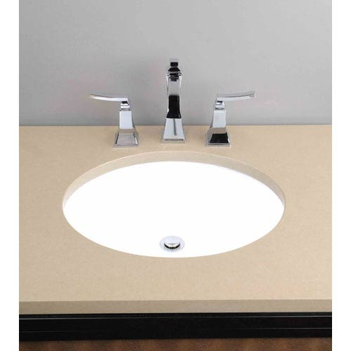 Vitreous China Undermount Oval Sink