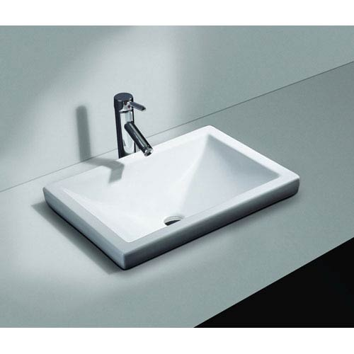 Cantrio Koncepts Vitreous China Semi Recessed Sink