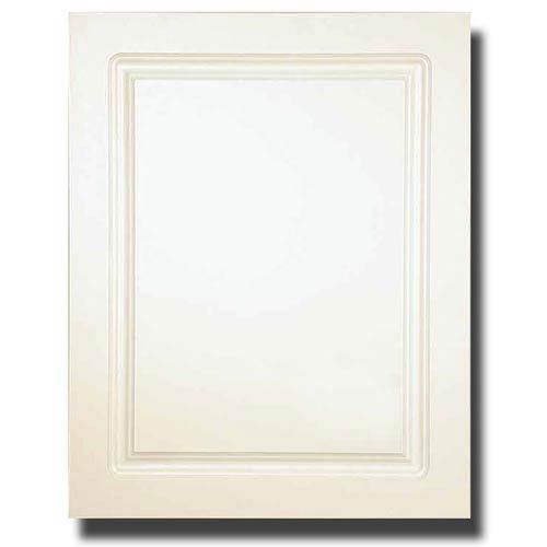 White 16-Inch x 20-Inch Raised Panel Medicine Cabinet