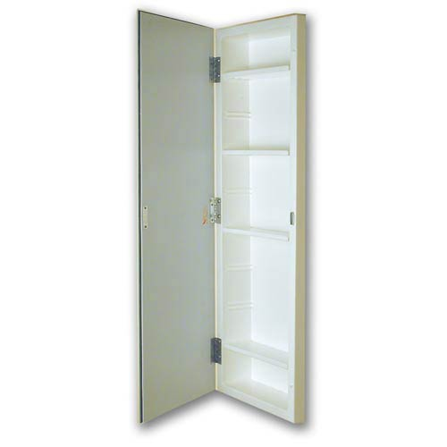 12 x 36 Polished Edge Mirror Recessed Styrene Medicine Cabinet