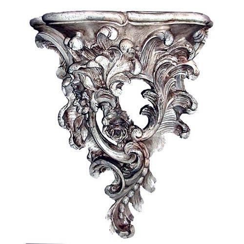 English Rose Gilt Silver Wall Bracket
