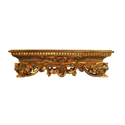 Open Leaf Antique Gold Bedcrown