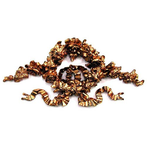 Ornate Bronze Floral Ribbon Wreath
