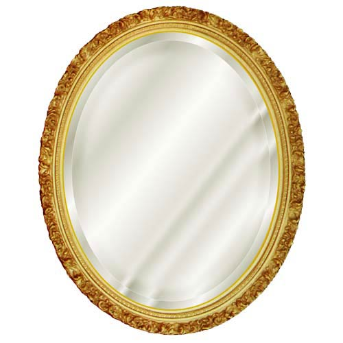 Hickory Manor House Antique Gold Oval Beveled Mirror