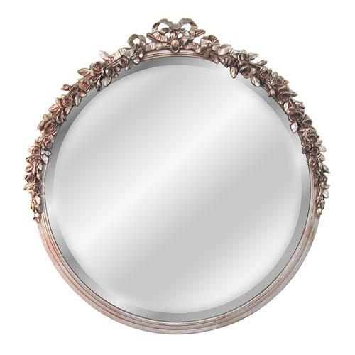 Round Rose Beveled Mirror