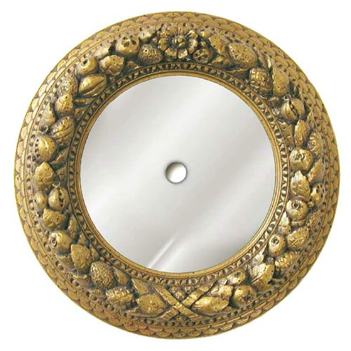 Antique Gold Nut Ring Mirrored Ceiling Medallion