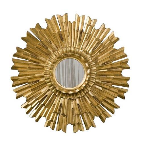 Hickory Manor House Eleganza 22-Inch Gold Leaf Mirror