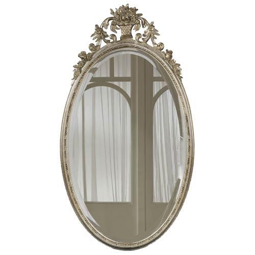 Hickory Manor House Oval Flower Basket Shimmer Mirror