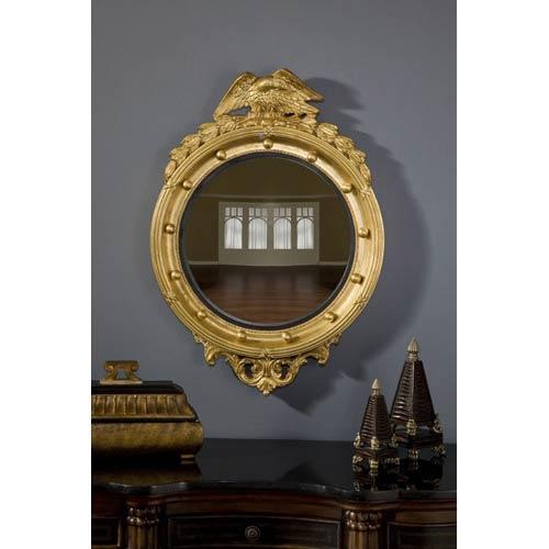 Hickory Manor House Regency Eagle Convex Gold Leaf Mirror