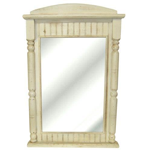 Old World White Beadboard Mirror