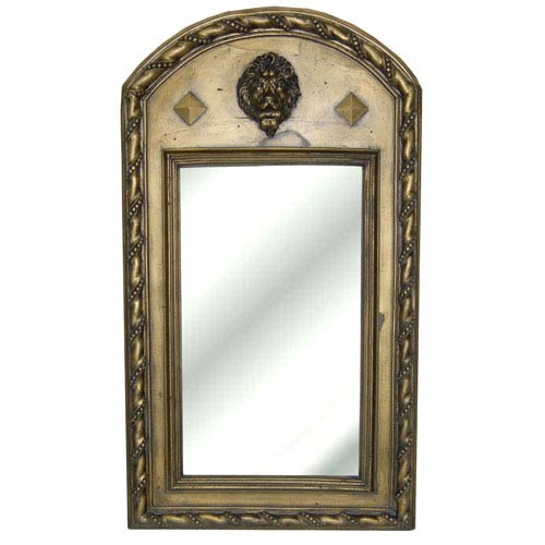 Hickory Manor House Gold Wash Lion Mirror