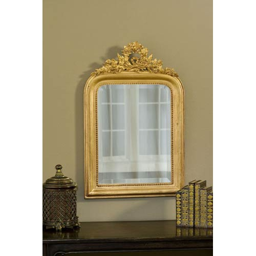 Hickory Manor House Wreath Gold Leaf Mirror
